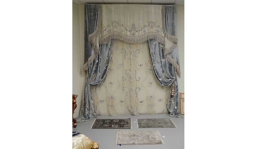 Furniture Masterpieces Embroidered custom made draperies 433