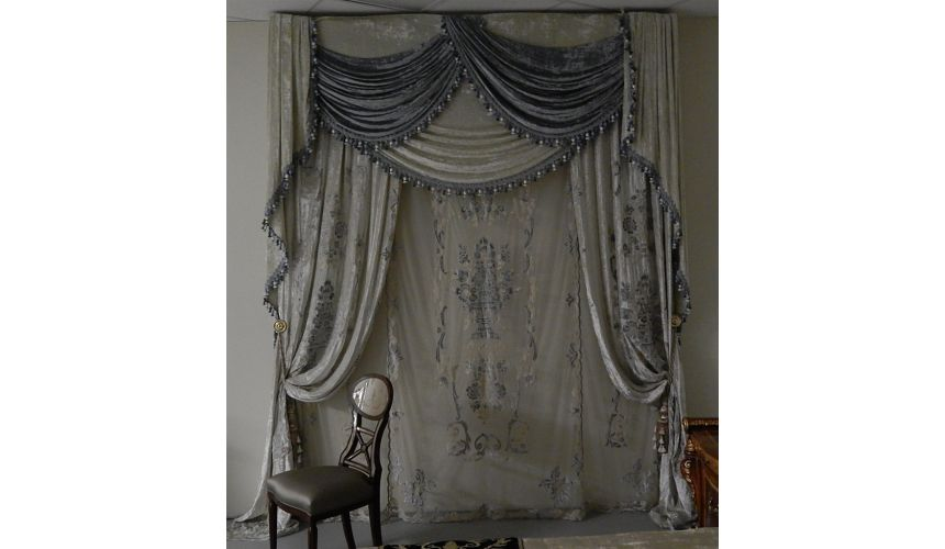 Furniture Masterpieces Fancy embroidered custom made draperies 433