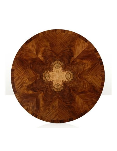 Dining Tables Modern Classic, round dining table. Exquisite marquetry and detail work.