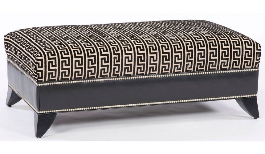 Luxury Leather & Upholstered Furniture Modern furniture, sleek ottoman. 801