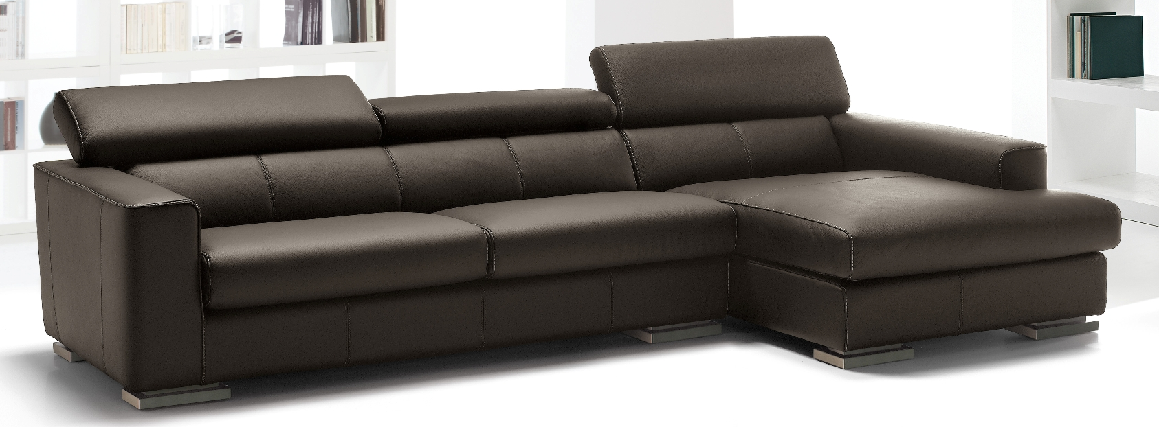 Modern luxury leather sofa fine home furnishings high for Modern luxury furniture