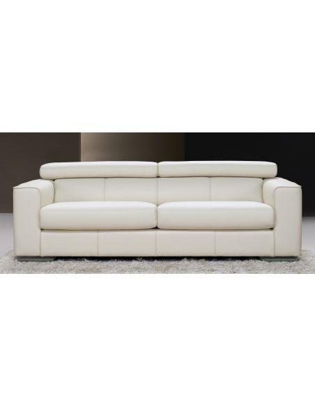 Modern luxury leather sofa. Fine home furnishings.