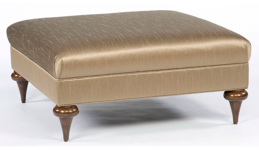 Luxury Leather & Upholstered Furniture Modern style square ottoman. 91