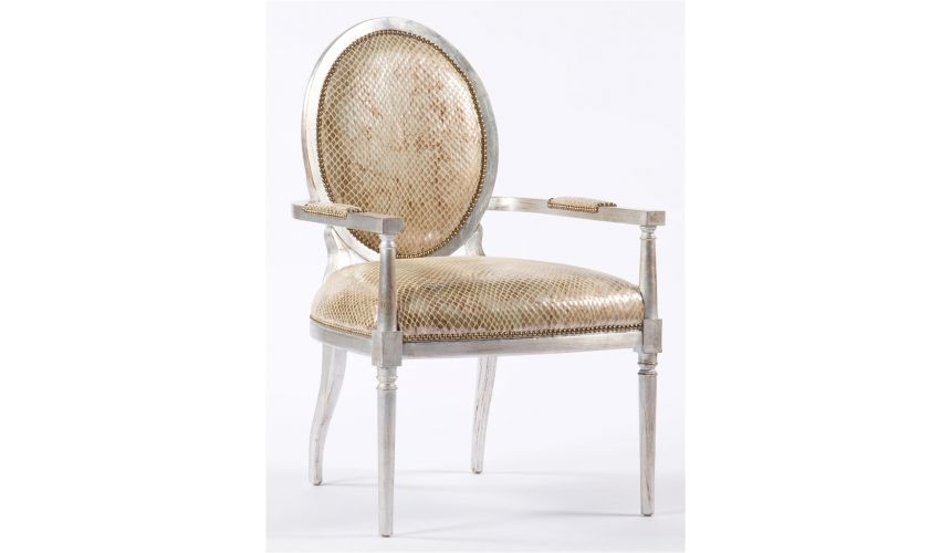 Luxury Leather & Upholstered Furniture Modern style furnishings. Living room chair, accent arm chair. 76