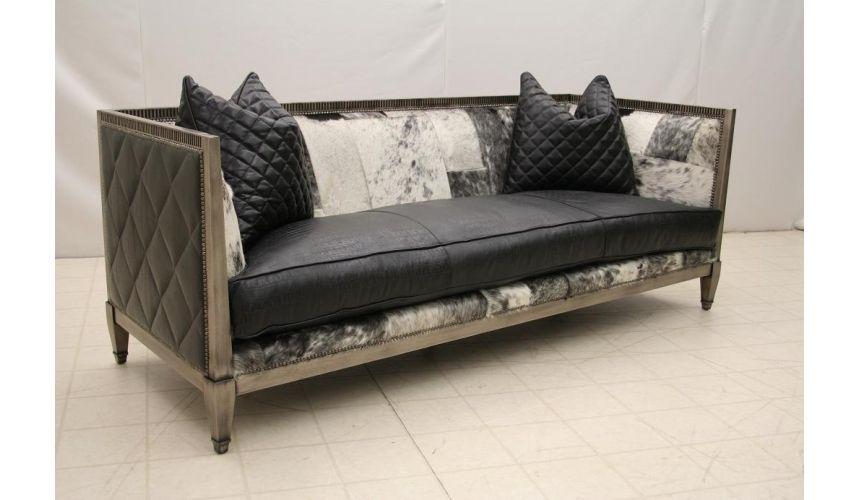 SOFA, COUCH & LOVESEAT Modern Wood Frame Sofa L458-05