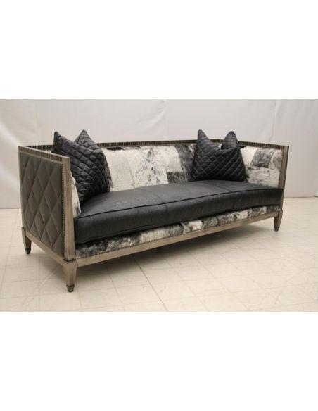 Modern Wood Frame Sofa L458-05