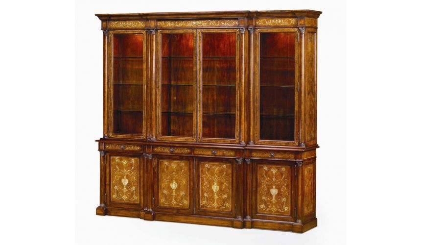Breakfronts & China Cabinets Mother of pearl china cabinet Library bookcase