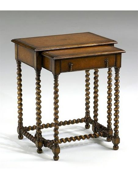 Decorative Accessories Nesting-table-with-leather-inlay