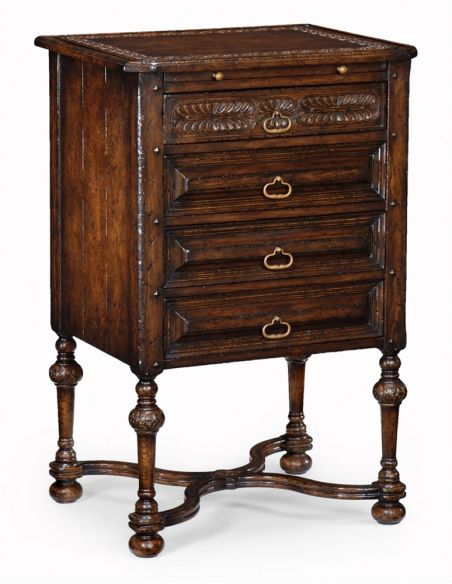 LUXURY BEDROOM FURNITURE English Manor Home Furniture, Oak chest of four drawers