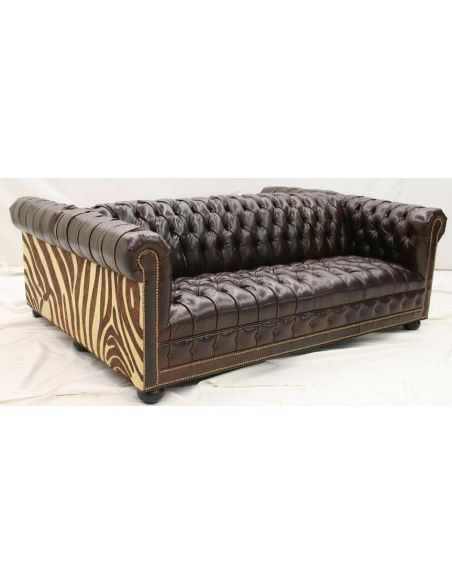 SOFA, COUCH & LOVESEAT American Made Leather Sofa-97