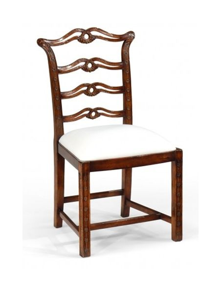 Dining Chairs High End Dining Room Furniture Side Chair with carved back and square legs