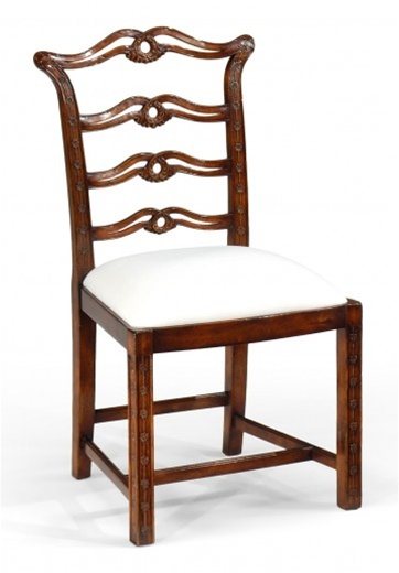 Dining Chairs High End Room Furniture Side Chair With Carved Back And Square Legs