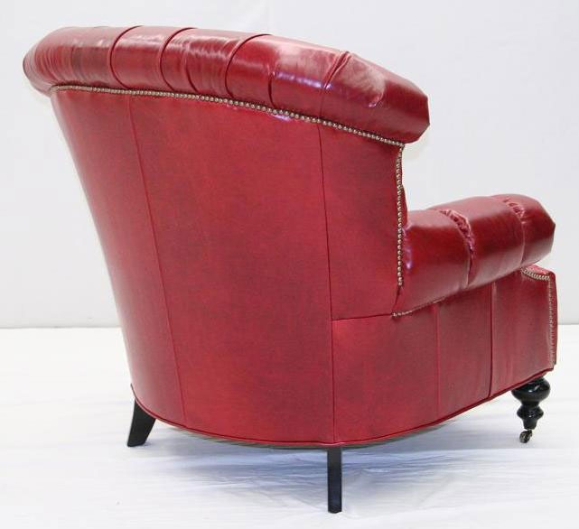 Good Luxury Leather U0026 Upholstered Furniture American Made Red Leather Chair 40