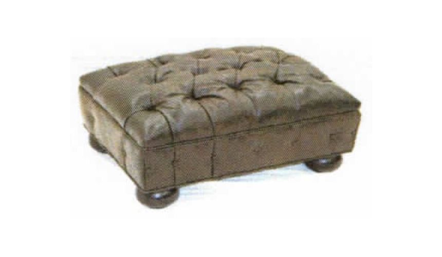 Luxury Leather & Upholstered Furniture Living Room Luxury Ottoman-32