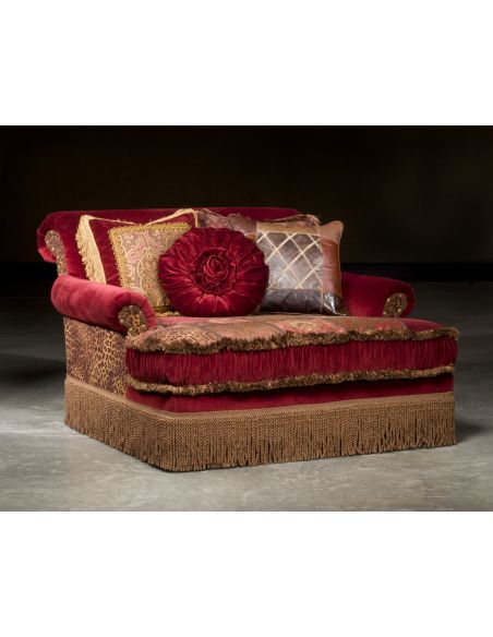 SETTEES, CHAISE, BENCHES Red Hot Parlor Double Chair, Luxury Home Furnishings