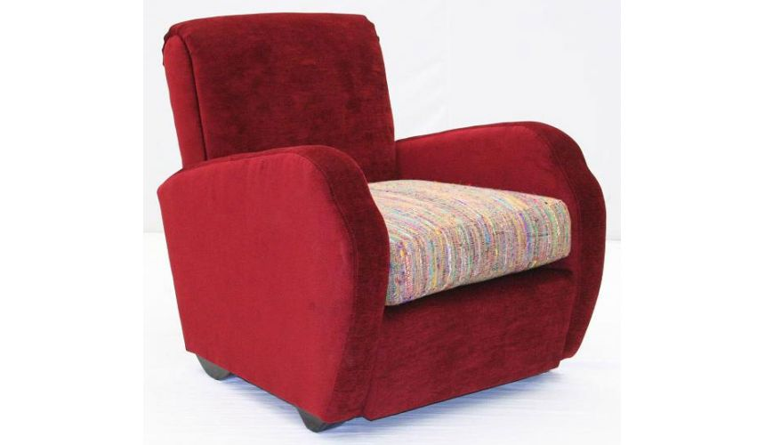 Luxury Leather & Upholstered Furniture Leather Small Chairs Red Sofa Sets-53