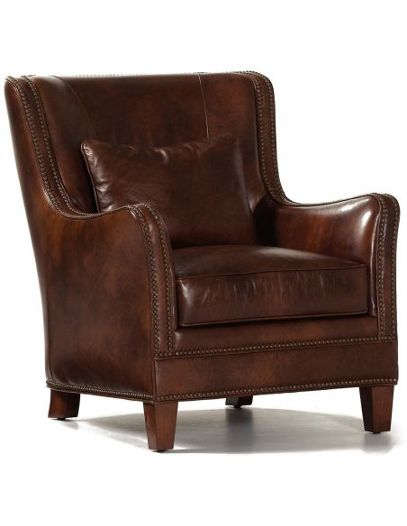 CHAIRS, Leather, Upholstered, Accent Leather Vermont Chair