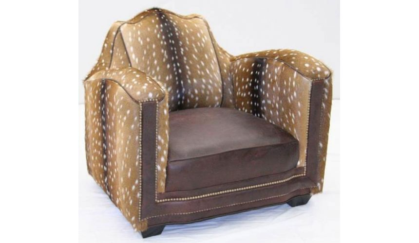 Luxury Leather & Upholstered Furniture Stunning Fawn of the Forrest Accent Chair