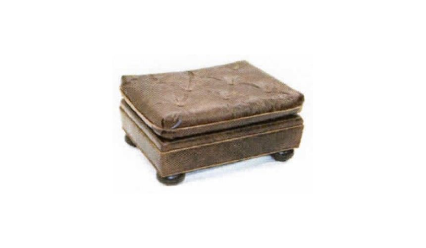 Luxury Leather & Upholstered Furniture Square Antique Leather Ottoman-100