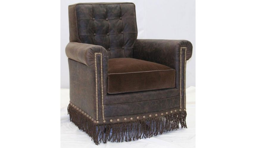 CHAIRS, Leather, Upholstered, Accent Deluxe Frontier's Shadow Armchair