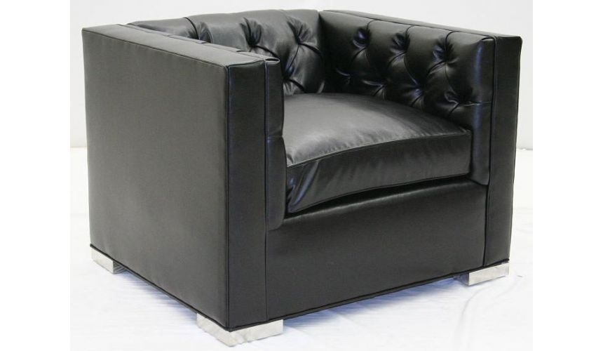 Amercian-Made Modern Leather Sofa Chair-76