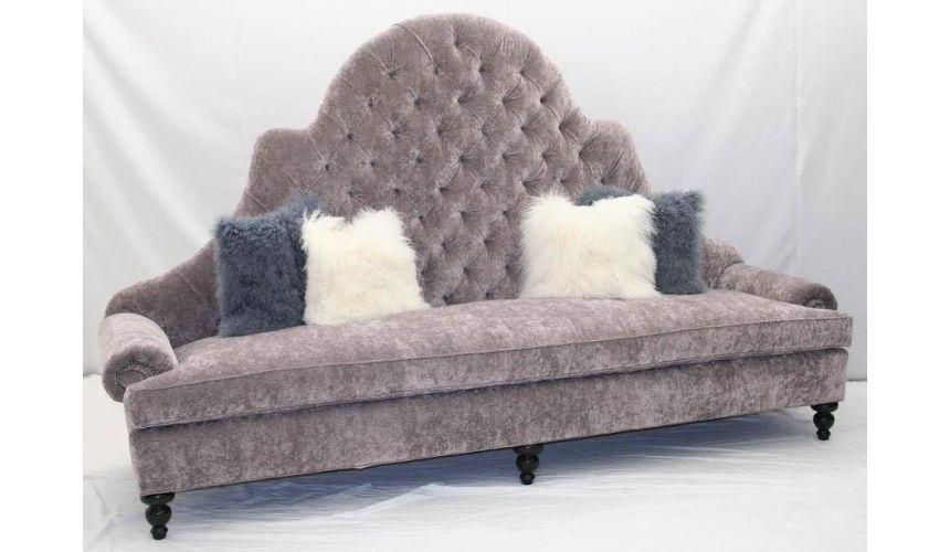 SOFA, COUCH & LOVESEAT Elegant Lavender Blush Sofa