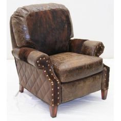 American Made Upholstered Leather recliner