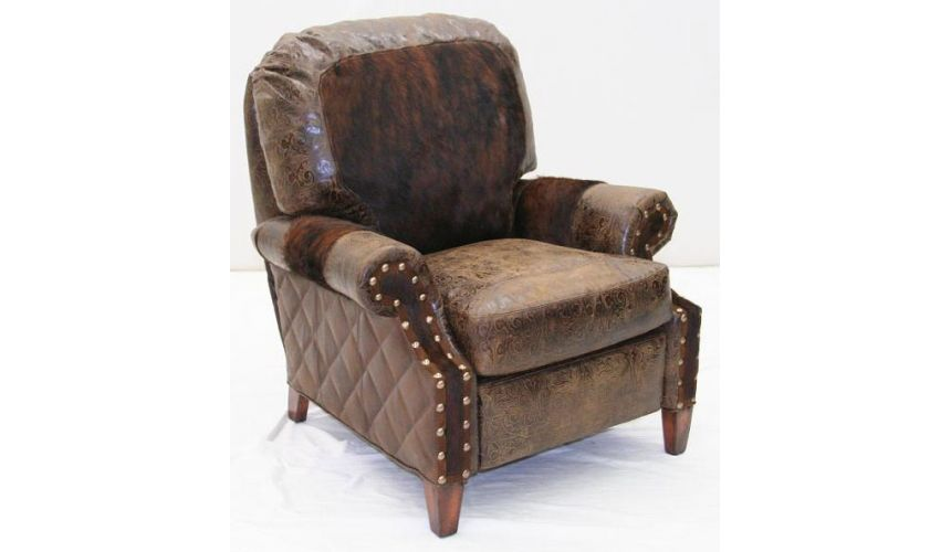MOTION SEATING - Recliners, Swivels, Rockers American Made Upholstered Leather recliner