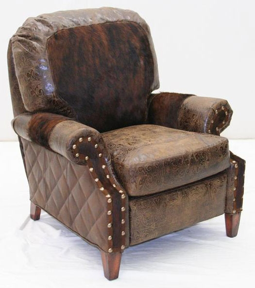 Charming American Made Upholstered Leather Sofa Chair 103