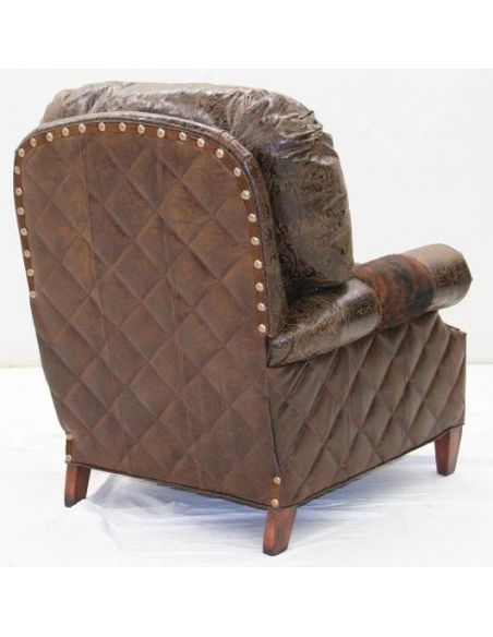 American Made Upholstered Leather Sofa Chair-103