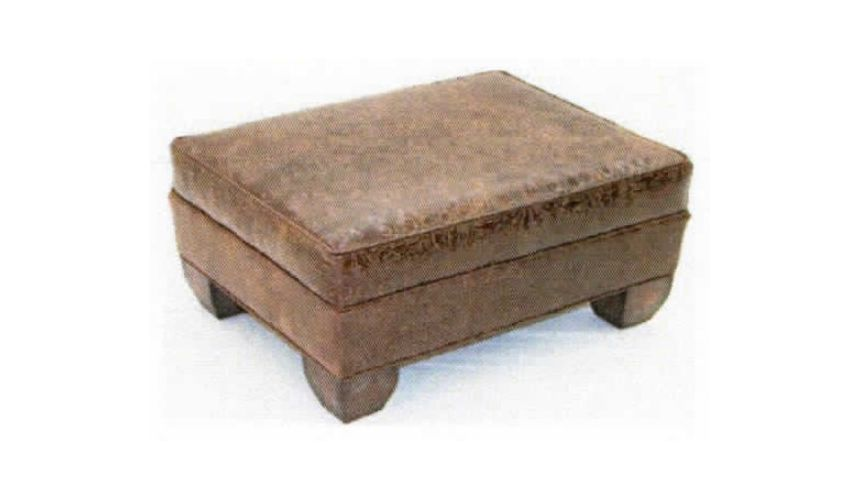 Luxury Leather & Upholstered Furniture Upholstered Leather Quality Ottomans-23