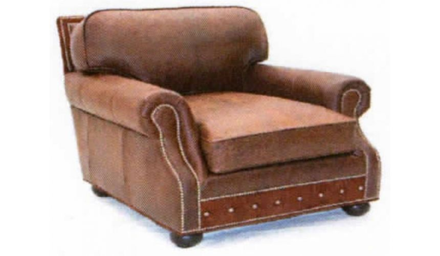 CHAIRS, Leather, Upholstered, Accent Stunning Exotic Honey Armchair