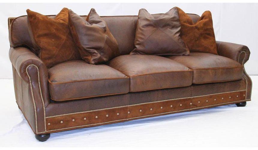 American-Made Comfortable Leather Sofa-58