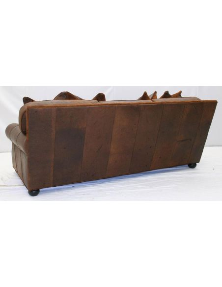 American-Made Comfortable Leather Sofa-58