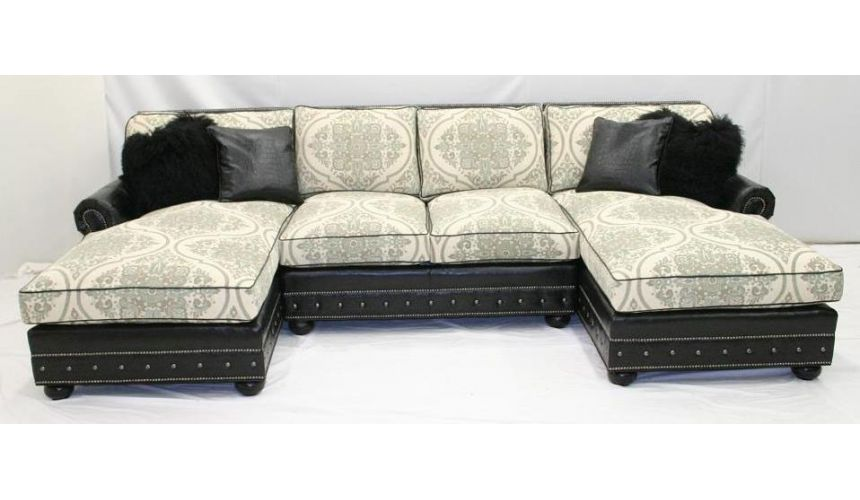 SECTIONALS - Leather & High End Upholstered Furniture Contemporary Windows of London Sofa Set