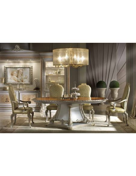 2 High end dining room table Italian furniture