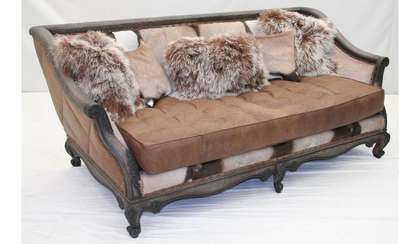 American Comfort Leather Sofa -1