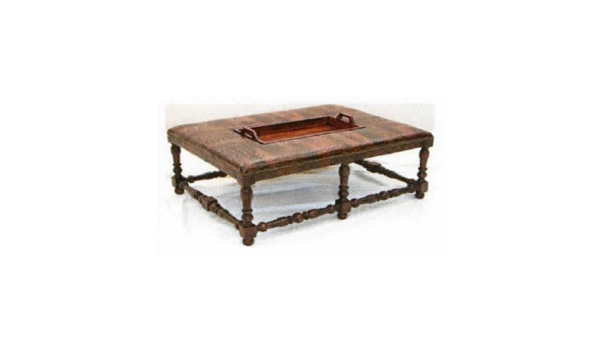 Luxury Leather & Upholstered Furniture High Quality Luxury Ottoman Table-10