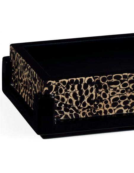 Snake Skin Design Rectangular Name Card Box