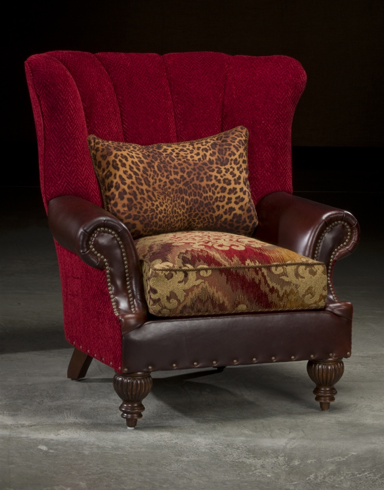 Royalty Red High Back Chair, High End Luxury Furniture
