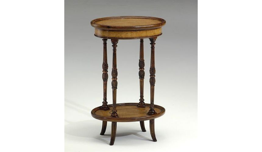 Square & Rectangular Side Tables Oval-sidetable-leather-inlay
