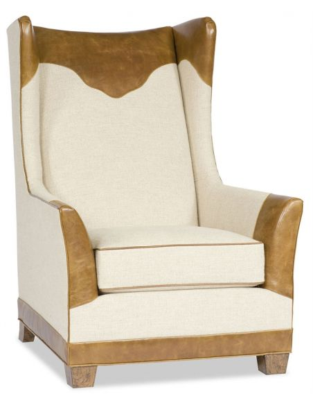 Luxury Leather & Upholstered Furniture Western Style Accent Chair