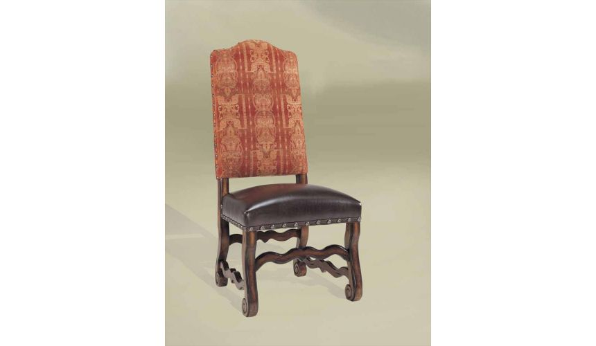 Luxury Leather & Upholstered Furniture Rustic Luxury Leather Furniture Side Chair