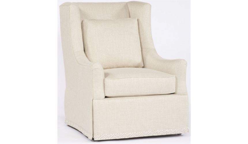 Modern Furniture High Back Cream Chair