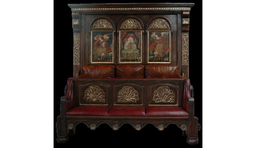 BEDS - Queen, King & California King Sizes Peruvian style religious artwork bed