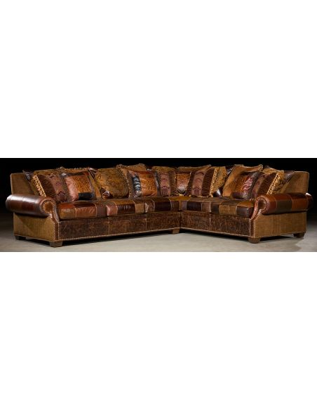 Luxury Leather & Upholstered Furniture Grand home furniture. Plush sectional sofa. 35