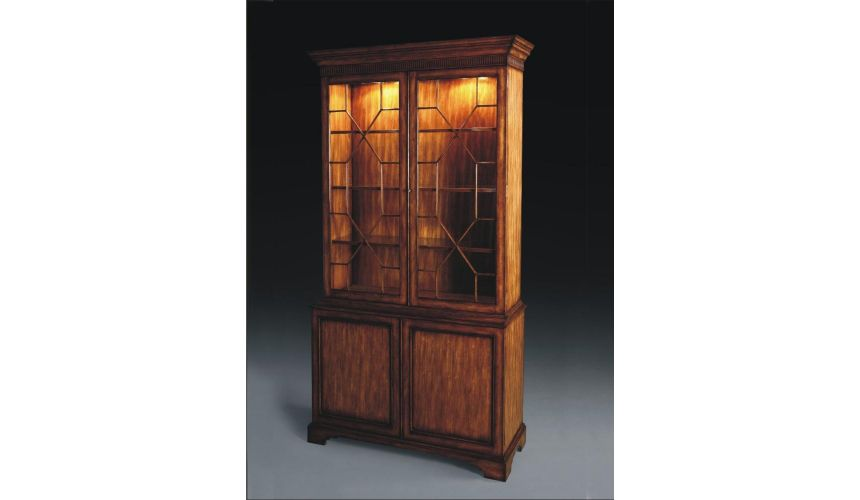 Breakfronts & China Cabinets Library and Home Office Furniture Bookcase