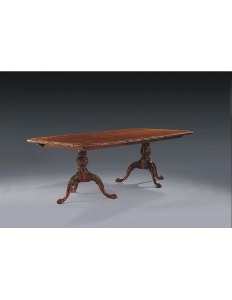 Dining Tables Luxury Home Furnishings. Triple Base Rope Edge Dining Table