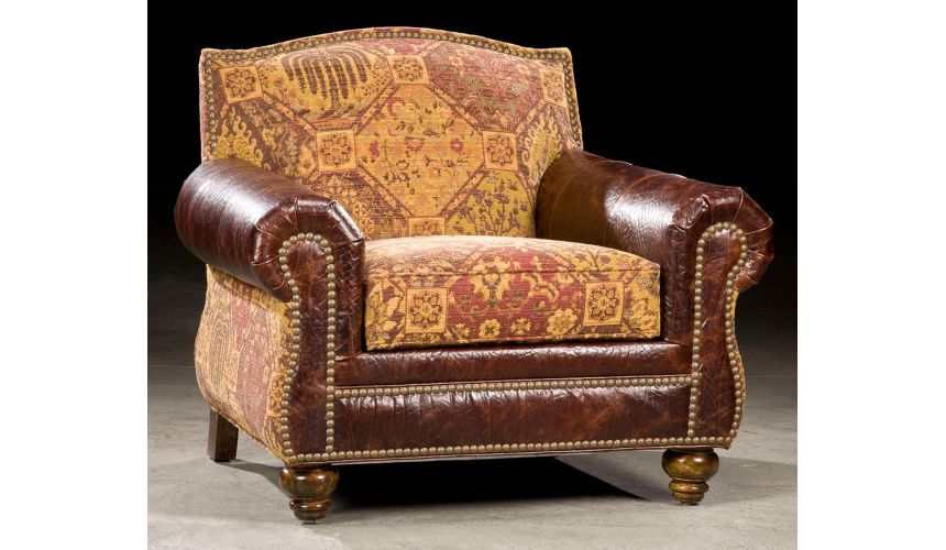 Luxury Leather & Upholstered Furniture High Quality Antique Leather Chair-67