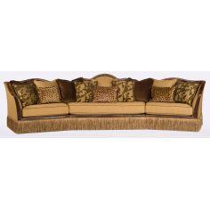 Large Upholstered Leather Sofa